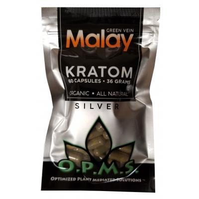 OPMS Silver Malay Kratom 60 Capsules