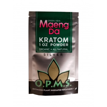OPMS Silver Maeng Da Kratom Powder - 1 Oz