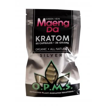 OPMS Silver Maeng Da Kratom - 60 Capsules