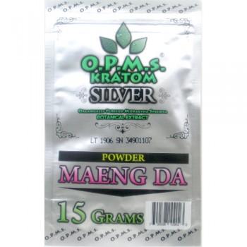 OPMS Silver Maeng Da Kratom Powder - 15 Grams